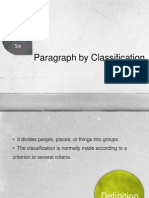 Paragraph by Classification