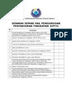 Senarai Semak Fail Pengurusan PT3