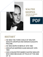 ppt on works of walter gropius and his buildings