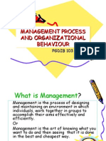 Management Process Management Process and Organizational And