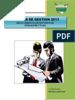 00 Memoria Institucional 2013-SUB GERENCIA DE ESTUDIOS DE INFRAESTRUCTURA - REYNER CASTILLO