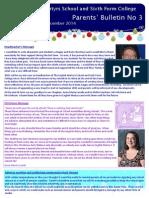 Parents Bulletin - December 2014