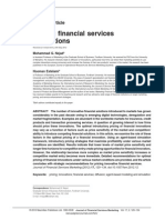 Pricing Financial Services Innovation