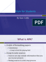 APA for Students - Wilmington University College of Arts and Sciences