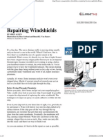 Popular Mechanics - Repairing Windshields