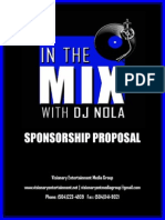In the Mix With DJ NOLA Sponsorship Proposal