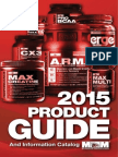 Max Muscle Sports Nutrition 2015 Product Catalog