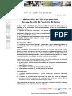 L'Education prioritaire dans l'académie de Rennes