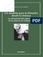 Un Modelo Para La Filosofía Desde La Música - Armendáriz, David