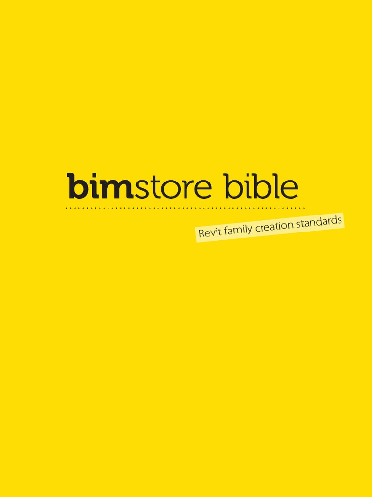 Bim Revit Family Creation Standards Autodesk Building Information Modeling