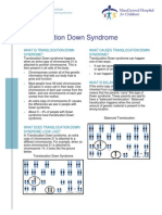 Down Syndrome Translocation