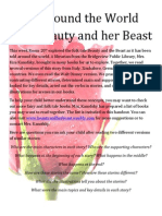 beauty and the beast annotated bib with cover art