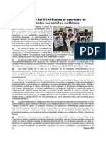 Sobre El Asesinato de Estudiantes Normalistas en México