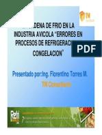 La Cadena de Frio en La Industria Avicola Errores en Procesos de Refrigeracion en La Industria Avicola Florentino Torres