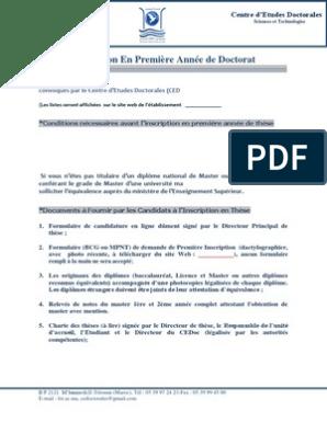 Annonce Inscription Doctorat Doctorat Baccalauréat