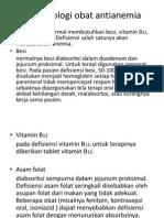 Farmakologi obat antianemia