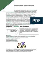 Definir La Organización Integración de Los Recursos Humanos