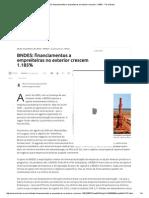 BNDES_ Financiamentos a Empreiteiras No Exterior Crescem 1
