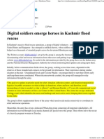 Digital Soldiers Emerge Heroes in Kashmir Flood Rescue - Hindustan Times