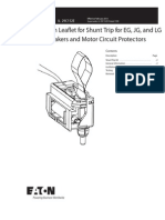 IL29C152E - Instruction Leaflet for Shunt Trip for EG, JG, And LG Circuit Breakers and Motor Circuit Protectors