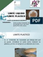 Esposicion Limite Liquido Limite Plastico
