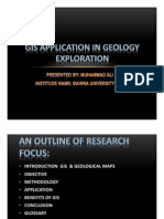 Gis Application in Geology