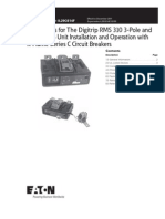 Instructions for the Digitrip RMS 310 3-Pole and 4-Pole
