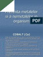 Prezenta Metalelor Si a Nemetalelor in Organism
