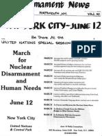 Disarmament News May 1982