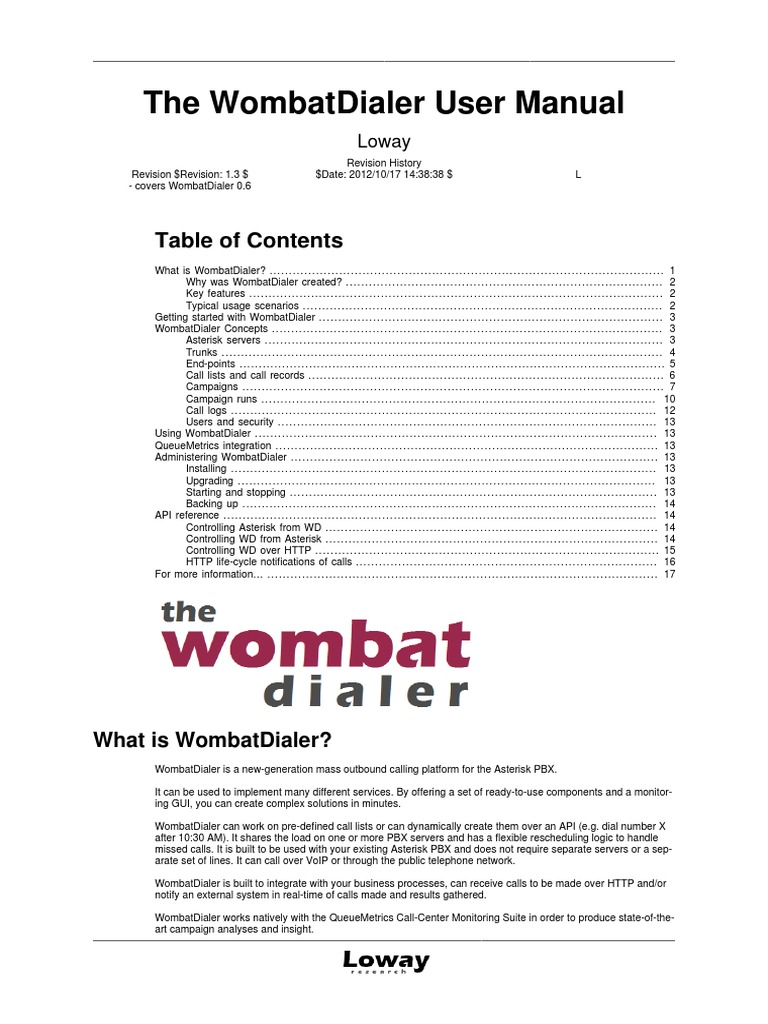 WombatDialer_UserManual_v3 | Queue (Abstract Data Type