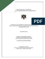 Pae 1 - Objeto de Estudio de La Administracion
