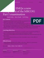 EMQs in MRCOG P1