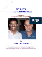 Thesis- My Days at Actor Prepares