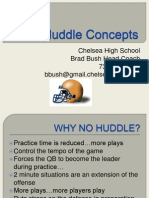 No Huddle Concepts