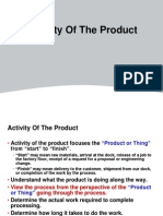 Activity of Product QS- Lean Manufacturing