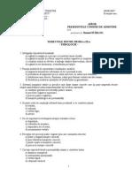 Subiecte proba a III-a Psihologie 2008