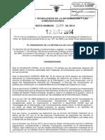 Decreto 2573 Del 12 de Diciembre de 2014