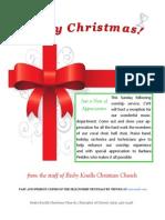 December 16, 2014 The Fellowship News