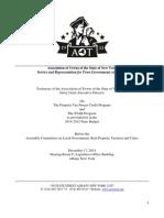 AOT Testimony Assm December 17 2014