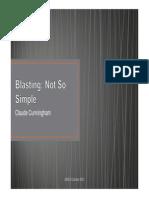 04 Blasting - Not So Simple -Claude Cunningham