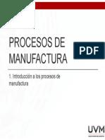 1. Introducción a Los Procesos de Manufactura