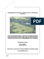 Plan de reforestación y obras de conservación del suelo.