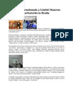 Ziua Internationala a Limbii Materne Sarbatorita La Braila