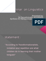 Seminar on Linguistics