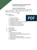 Informe Largo de Auditoria Externa de La Municipalidad Provincial de Puno Periodo 2013