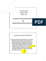 (Kuliah Zat Padat) Massa Efektif Elektron (11 Juni 2013)