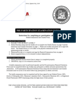 Pre Participation Medical Form