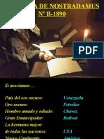 Nostradamus y Chavez