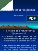 Filosofía de La Naturaleza