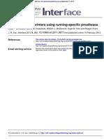 Leg stiffness of sprinters using running-specific prostheses